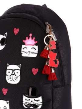 Стильный брелок подвеска красная с кошками. Изображение товара, вид 2