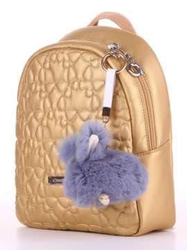 Модний брелок кролик хутровий з ремінцем сірий. Зображення товару, вид 2