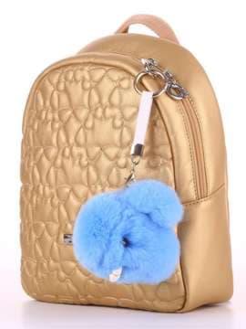 Брендовий брелок кролик хутровий з ремінцем блакитний. Зображення товару, вид 2