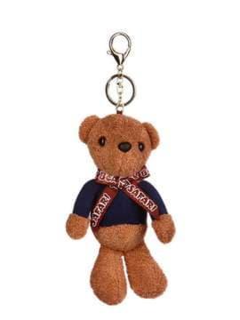 Стильний брелок м'яка іграшка ведмедик teddy коричневий. Зображення товару, вид 1