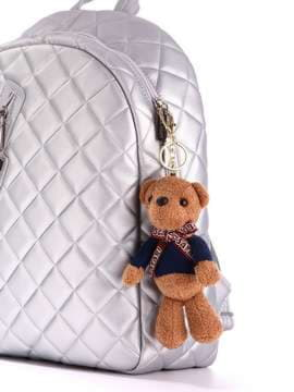 Стильний брелок м'яка іграшка ведмедик teddy коричневий. Зображення товару, вид 2