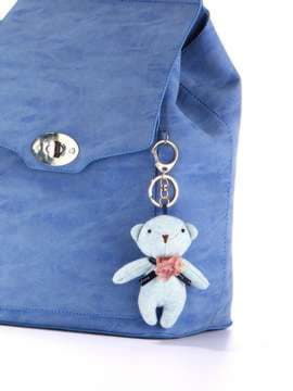 Стильный брелок мягкая игрушка мишка голубой. Изображение товара, вид 2