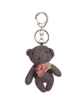 Модный брелок мягкая игрушка мишка темно-серый. Изображение товара, вид 1