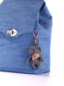 Модный брелок мягкая игрушка мишка темно-серый. Изображение товара, вид 2