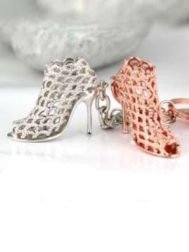 Стильный брелок туфелька розовое золото. Изображение товара, вид 2