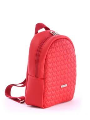 Стильный детский рюкзак с вышивкой, модель 0612 красный. Изображение товара, вид сбоку.