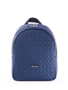 Стильный детский рюкзак с вышивкой, модель 0613 синий. Изображение товара, вид спереди.