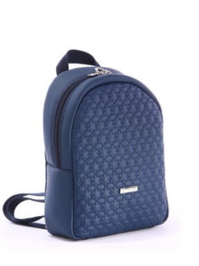 Стильный детский рюкзак с вышивкой, модель 0613 синий. Изображение товара, вид сбоку.
