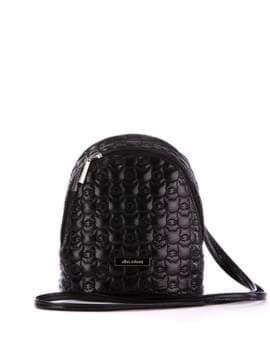Модний рюкзачок з вышивкою, модель 1801 чорний. Зображення товару, вид спереду.