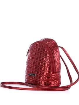 Жіночий рюкзачок з вышивкою, модель 1805 бордо. Зображення товару, вид збоку.
