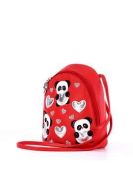 Стильный детский рюкзак с вышивкой, модель 1842 красный. Изображение товара, вид сбоку.