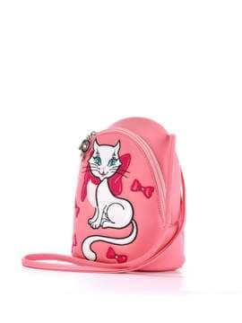 Стильный детский рюкзак с вышивкой, модель 1846 розовый. Изображение товара, вид сбоку.