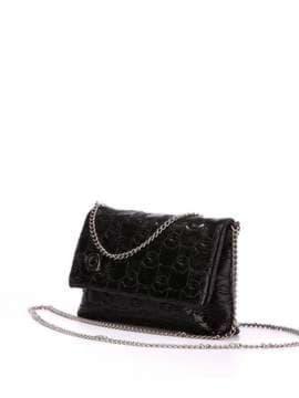 Стильная детская сумочка с вышивкой, модель 1821 черный. Изображение товара, вид сбоку.