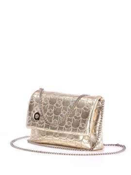 Стильна дитяча сумочка з вышивкою, модель 1823 золото. Зображення товару, вид збоку.