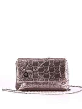 Стильна дитяча сумочка з вышивкою, модель 1824 бронза. Зображення товару, вид спереду.