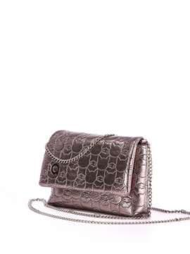 Стильна дитяча сумочка з вышивкою, модель 1824 бронза. Зображення товару, вид збоку.