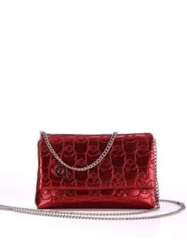 Стильная детская сумочка с вышивкой, модель 1825 бордо. Изображение товара, вид спереди.