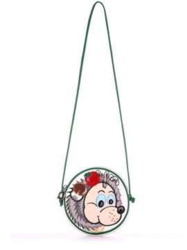 Стильная детская сумочка с вышивкой, модель 1855 белый. Изображение товара, вид спереди.