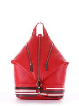 Модный рюкзак с вышивкой, модель 181406 красный. Изображение товара, вид сбоку.