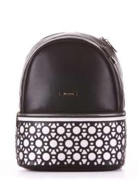 Женский рюкзак, модель 181432 черный. Изображение товара, вид сбоку.