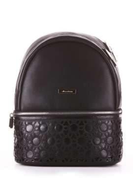 Модный рюкзак, модель 181434 черный. Изображение товара, вид сбоку.