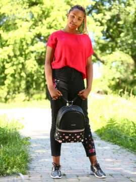 Брендовый рюкзак, модель 181435 черный. Изображение товара, вид спереди.