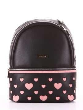 Брендовый рюкзак, модель 181435 черный. Изображение товара, вид сбоку.