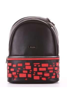 Брендовый рюкзак, модель 181436 черный. Изображение товара, вид сбоку.