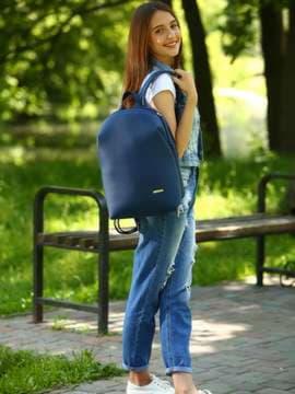 Брендовый рюкзак, модель 181453 синий. Изображение товара, вид спереди.