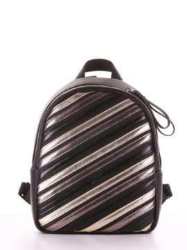 Стильный рюкзак с вышивкой, модель 181471 черный. Изображение товара, вид сбоку.