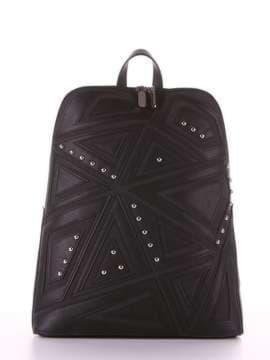 Модный рюкзак с вышивкой, модель 181501 черный. Изображение товара, вид сбоку.