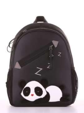 Шкільний рюкзак з вышивкою, модель 181543 чорний. Зображення товару, вид збоку.