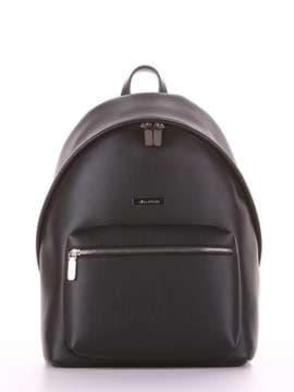 Брендовый рюкзак, модель 181711 черный. Изображение товара, вид сбоку.