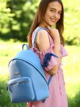 Брендовый рюкзак, модель 181714 голубая волна. Изображение товара, вид спереди.