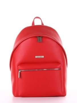 Брендовый рюкзак, модель 181716 красный. Изображение товара, вид сбоку.
