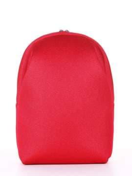 Брендовый рюкзак, модель e18124 красный. Изображение товара, вид сбоку.