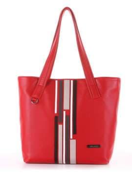 Школьная сумка с вышивкой, модель 181416 красный. Изображение товара, вид сбоку.