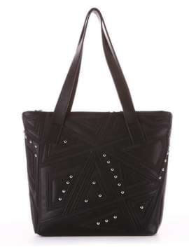 Школьная сумка с вышивкой, модель 181511 черный. Изображение товара, вид сбоку.