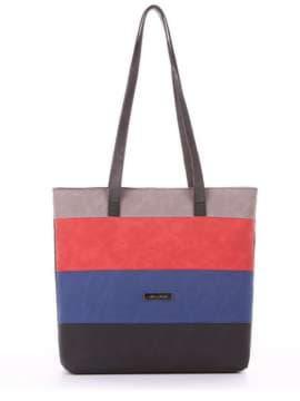 Стильная сумка, модель 181801 черный. Изображение товара, вид спереди.