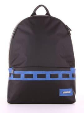 Школьный рюкзак - unisex, модель 181603 черно-синий. Изображение товара, вид сбоку.