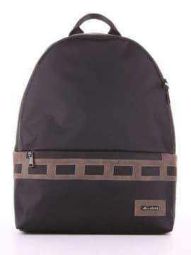 Стильный рюкзак - unisex, модель 181604 черный-хаки. Изображение товара, вид сбоку.