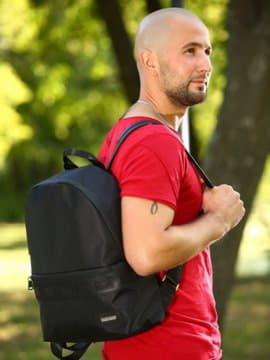 Школьный рюкзак - unisex, модель 181611 черный. Изображение товара, вид спереди.