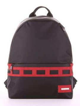 Модный рюкзак - unisex, модель 181612 черно-красный. Изображение товара, вид сбоку.