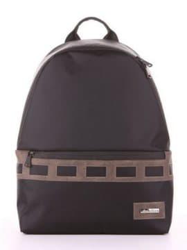 Школьный рюкзак - unisex, модель 181614 черный-хаки. Изображение товара, вид сбоку.