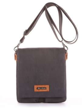 Модная сумка через плечо, модель 181643 черный. Изображение товара, вид сбоку.