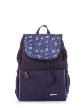 Молодежный рюкзак с вышивкой, модель 183842 синий. Изображение товара, вид сбоку.