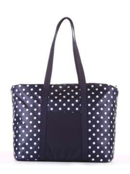 Молодежная сумка, модель 183804 синий/белый горох. Изображение товара, вид сбоку.