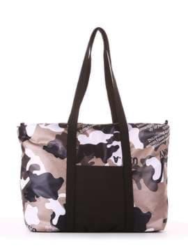 Женская сумка, модель 183806 милитари/черный. Изображение товара, вид сбоку.