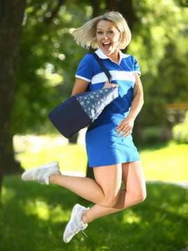Молодежная сумка с вышивкой, модель 183862 синий. Изображение товара, вид спереди.