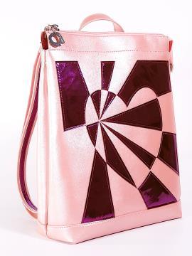 Фото товара: рюкзак 2102 рожевий-перламутр. Вид 1.